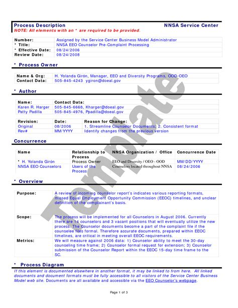 documenting procedures template best photos of business procedure template business
