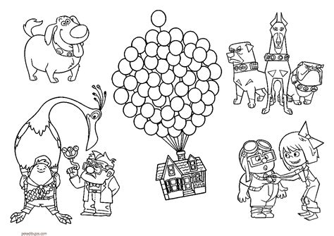 Coloring Page Up House by Dibujos De Up Para Colorear