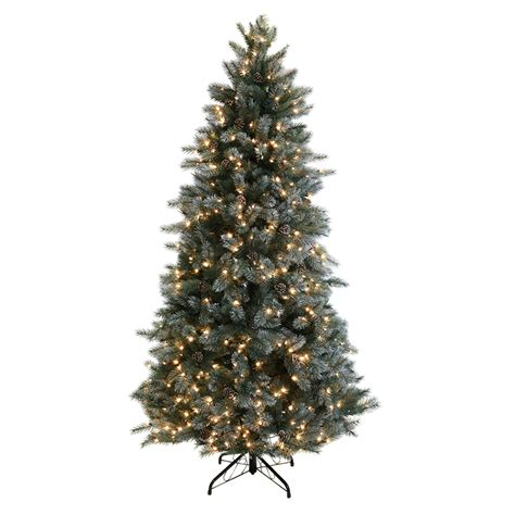shop ge 7 5 ft pre lit scotch pine artificial christmas