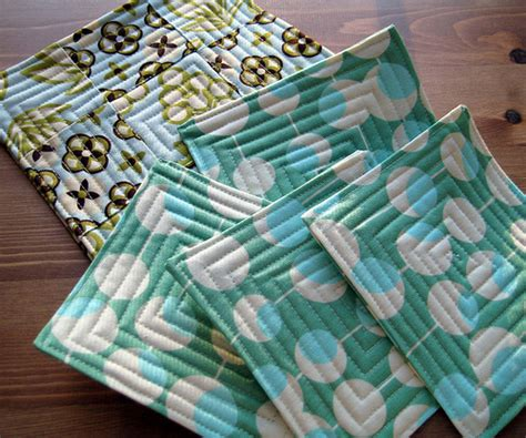 Last Minute Patchwork And Quilted Gifts - coasters from last minute patchwork and quilted gifts