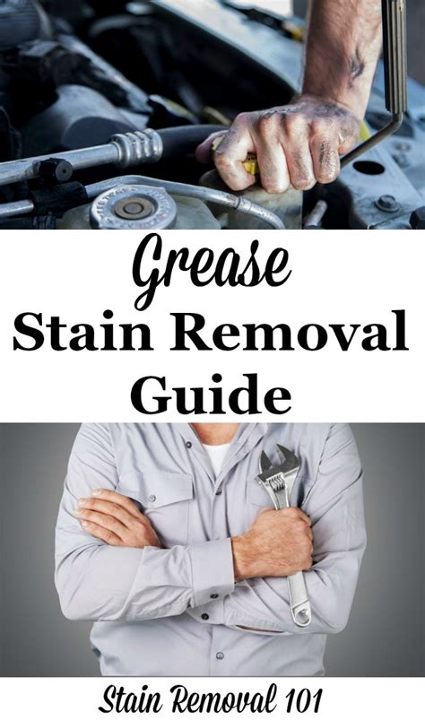 grease stain removal guide removing motor oil  grease