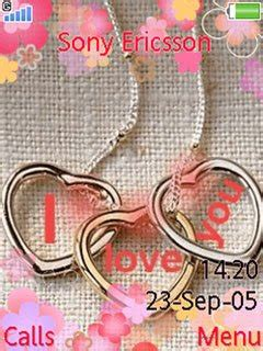 love themes phone sony ericsson cell phone mobiles i love you 240x320