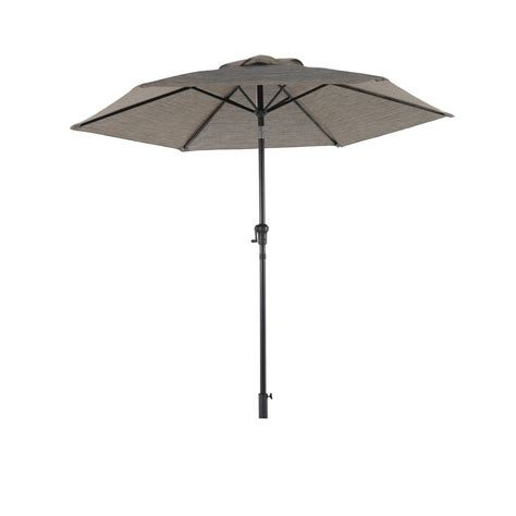 Gray Patio Umbrella Hton Bay Statesville 8 Ft Patio Umbrella In Gray Yjauc 171 Y The Home Depot