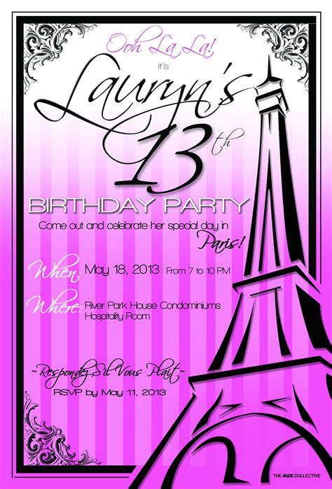 wording 13th birthday invitations 13th birthday invitation templates 13th birthday