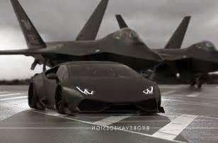 Lamborghini Vs Jet Sport Cars Lamborghini Huracan Black Matte A Fighter