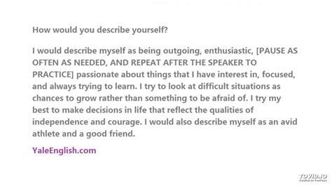 how do you describe yourself profesional resume template