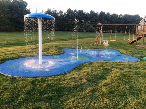 how to build a backyard splash pad residential splash pad for your backyard