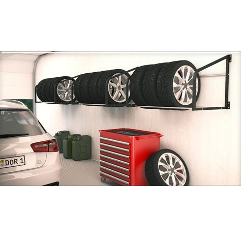 Wall Mounted Tire Rack tire rack wall shelf wall mounted tire holder wheel storage racking garage ebay