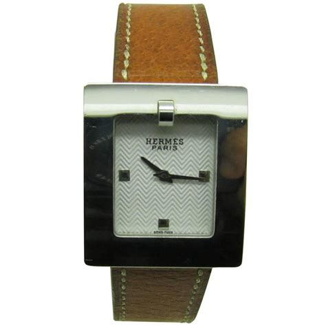 Hermes Belt Watch in Stainless Steel and Leather Band (D) For Sale at 1stdibs
