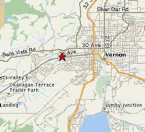 vernon canada map mappage