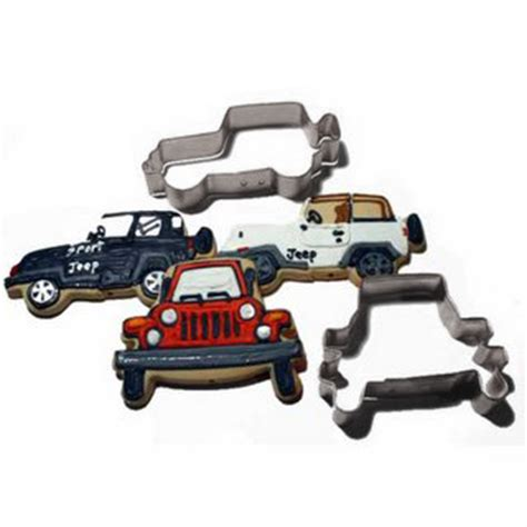jeep cookies all things jeep exclusive set of two cookie cutters by