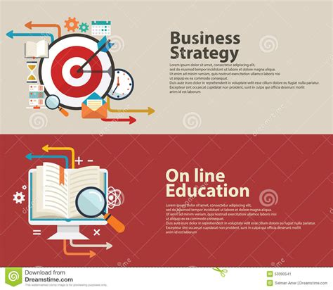 banner design education strategy concept business consulting on line education