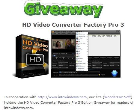 Video Converter Giveaway - giveaway wonderfox hd video converter factory pro