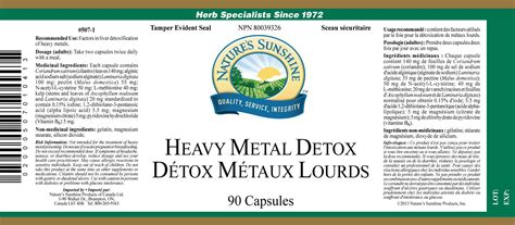 Nature S Select Heavy Metal Detox by Heavy Metal Detox 90 Caps My Canada
