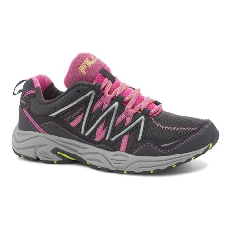 womens fila sneakers fila s headway 6 gray pink trail running shoe shop