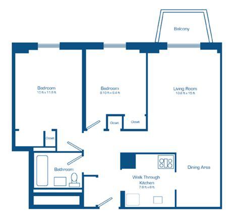 Paramount Floor Plan 2 bedroom