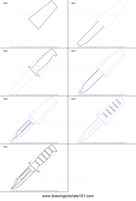 knife steps how to draw a knife printable step by step drawing