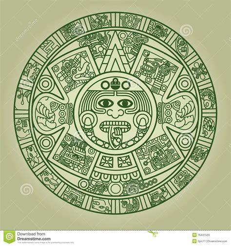 Imagenes Calendario Y Azteca Calendario Azteca Estilizado Ilustraci 243 N Vector