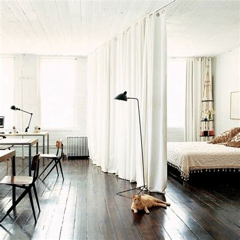 Curtains For Studio Apartments Ideas Curtain Partition For The Home Pinterest Studio Apartment Curtains And Studios
