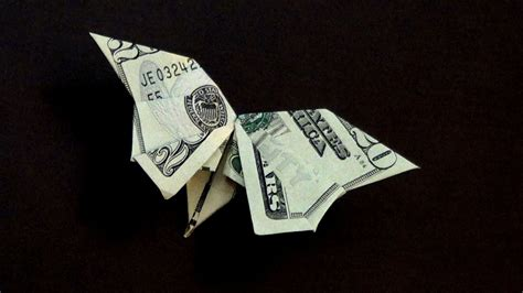 How To Make A Origami With A Dollar Bill - cool money origami butterfly 2018