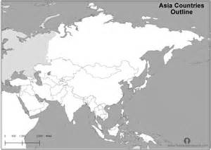 map black and white black and white map of asia with countries labeled