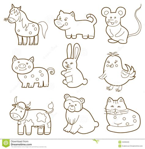the coloring book for cool who animals books vector animal stock vector image of farming character