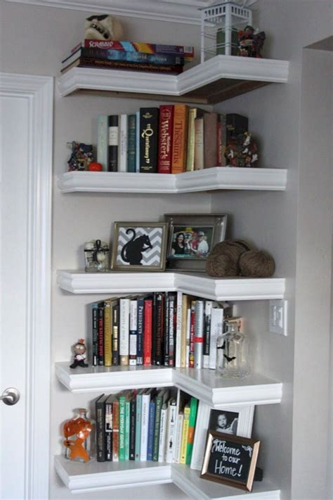 space saving corner shelf design ideas futurist architecture