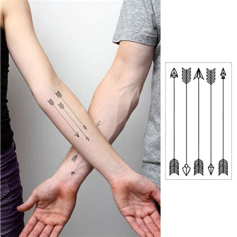 images of small hand tattoos arrow flash sticker 10 5 6cm small waterproof