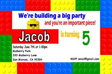 lego birthday invitations free lego birthday invitation templates printables ideas