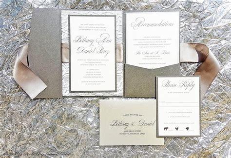 pocketfold wedding invitations marina gallery