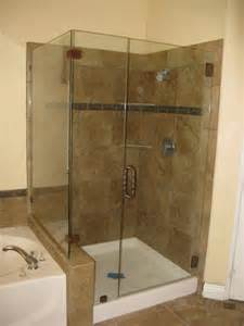 seamless shower doors seamless corner showers next to tubs