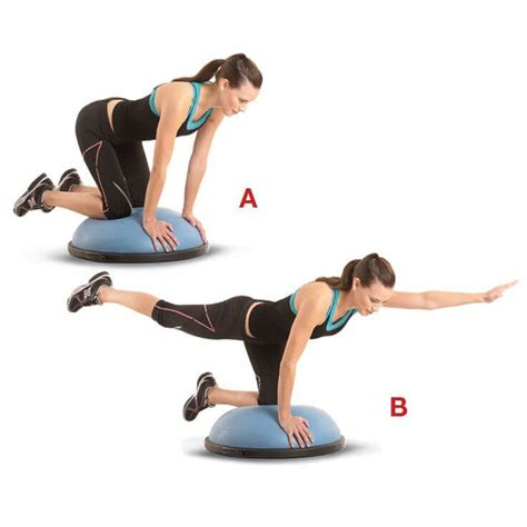 boat pose on bosu bosu ball exercises the total body workout for runners