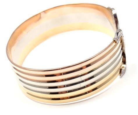 tri color gold bracelet attractive tri color gold bracelet bracelet design for you