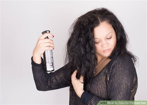 how to treat a new perm expert advice on how to care for permed hair wikihow