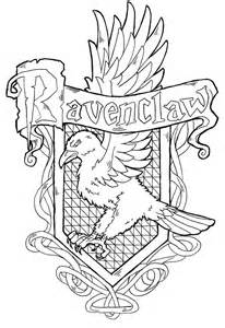harry potter coloring pages ravenclaw ravenclaw crest by yami shinen deviantart harry