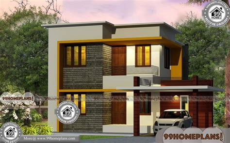 Front House Design India with Two Story Box Type Simple