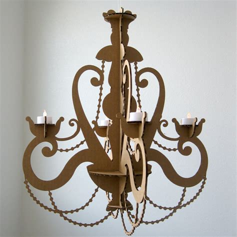 Hanging Tea Light Chandelier Tea Light Chandelier Cardboard Chandelier Candle