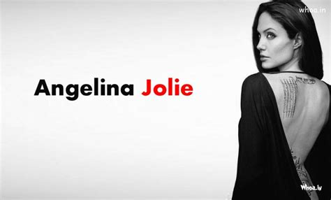 angelina jolie wallpaper black and white angelina jolie black and white backless wallpaper