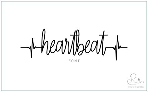 heartbeat font download otf ttf open type fonts digital