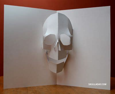 Template Popup Card Skull pop up skull template maak het papier