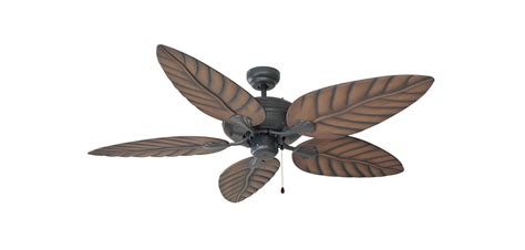 ceiling fan with leaf shaped blades design house 154104 rubbed bronze 52 quot 5 blade ceiling