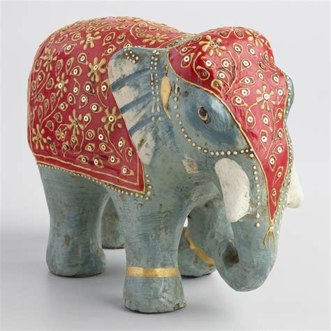 How To Make Elephant With Paper - painted paper mache elephant with blanket world market