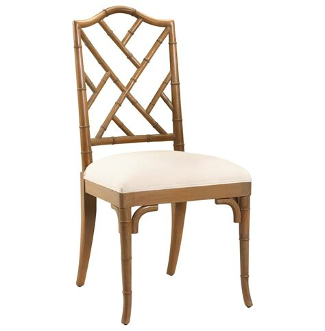 Chinese chippendale hollywood regency brown bamboo dining chair kathy kuo home