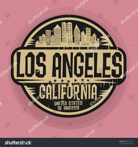 Los Angeles Search By Name St Or Label With Name Of Los Angeles California Vector Illustration 281517077