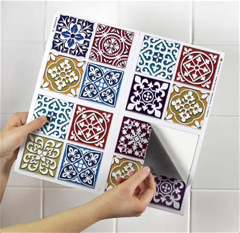 tile transfer stickers bathroom 4 tile transfer stickers 6 quot x 6 quot moroccan mosaic for
