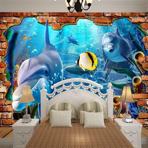 3d Wallpaper World Roll Besar 5 undersea seaworld fish shell 3d wallpaper wall mural rolls hotel kindergarten