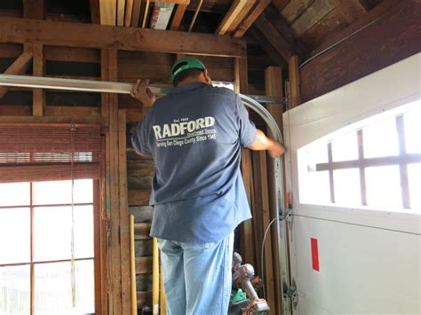 install garage door track installing garage door tracks how to install a garage
