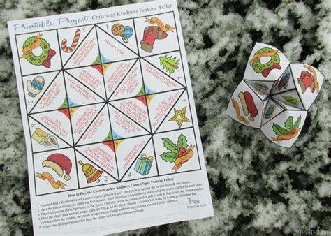 printable christmas fortune teller kids love this free printable random acts of kindness
