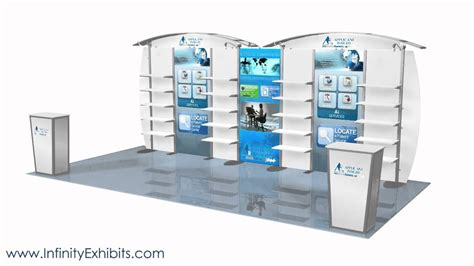 trade show display shelving 20ft modlite arch with shelves trade show display booth