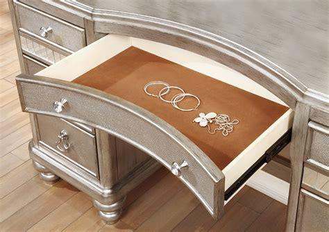 bling game vanity desk coaster bling game vanity desk metallic platinum 204187